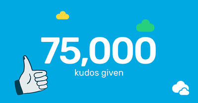 Breathe 75,000 kudos given in 2018