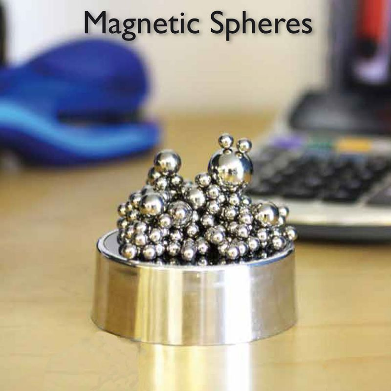 employee desk paper weight magnetic spheres