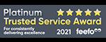 Breathe Feefo 2021 Platinum award logo