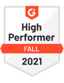 G2 badge - High Performer - Fall 2021