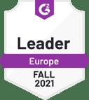 G2 badge - Leader - Europe - Fall 2021