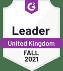 G2 badge - Leader - UK - Fall 2021