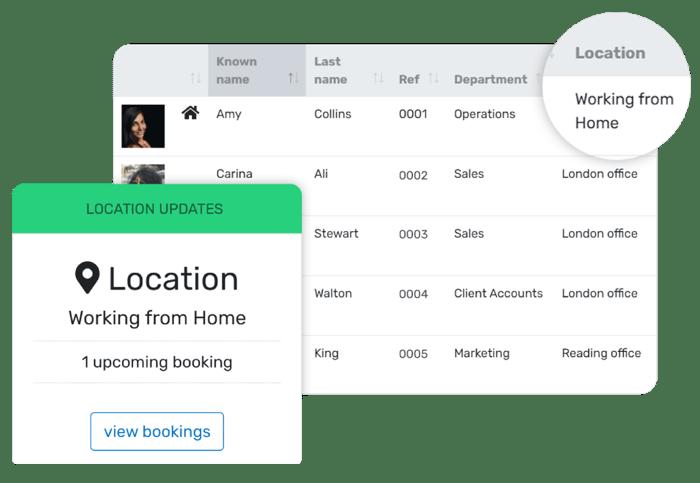 Location management tool location updates