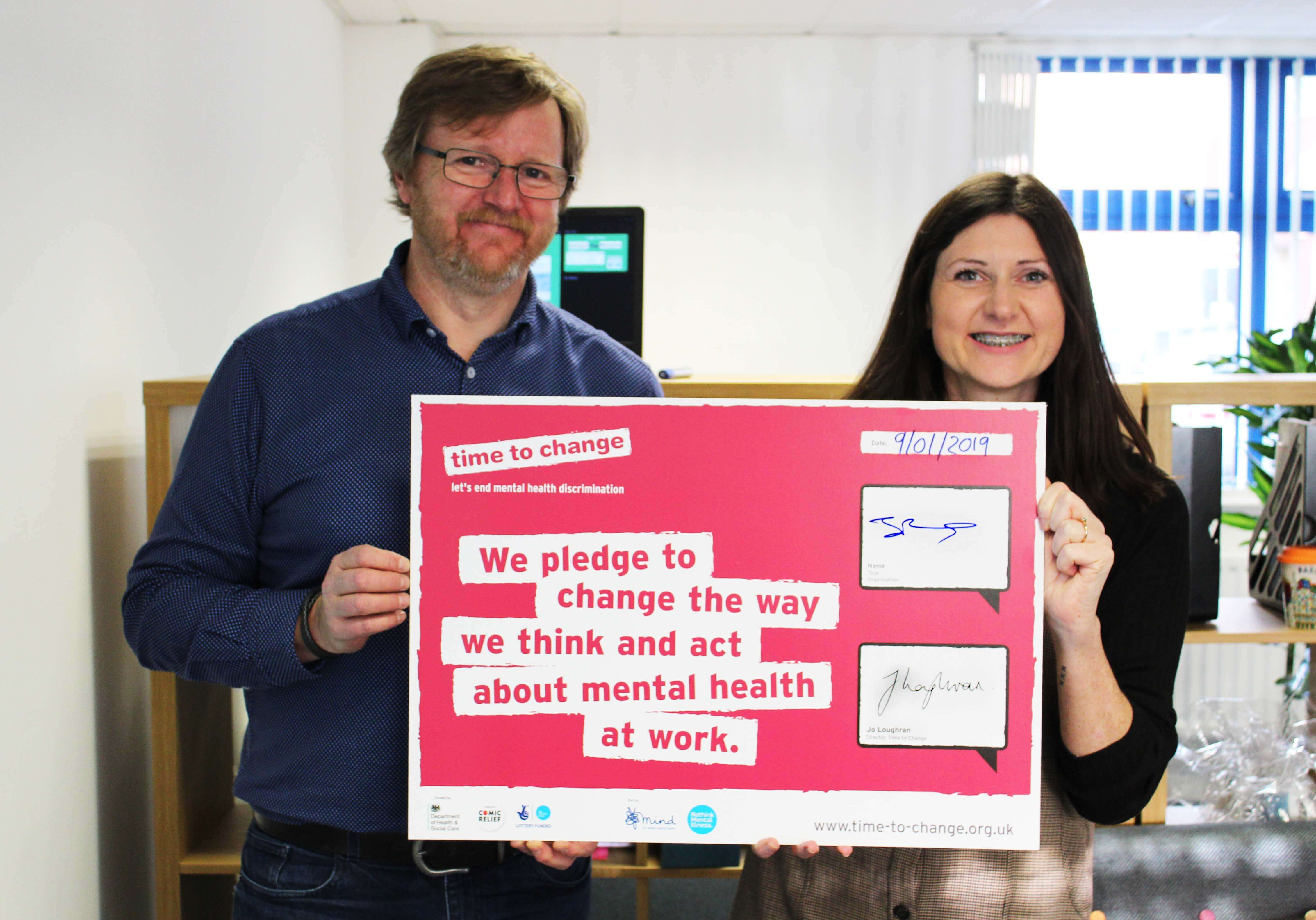 Support employees mental health, depression in the workplace, time to change