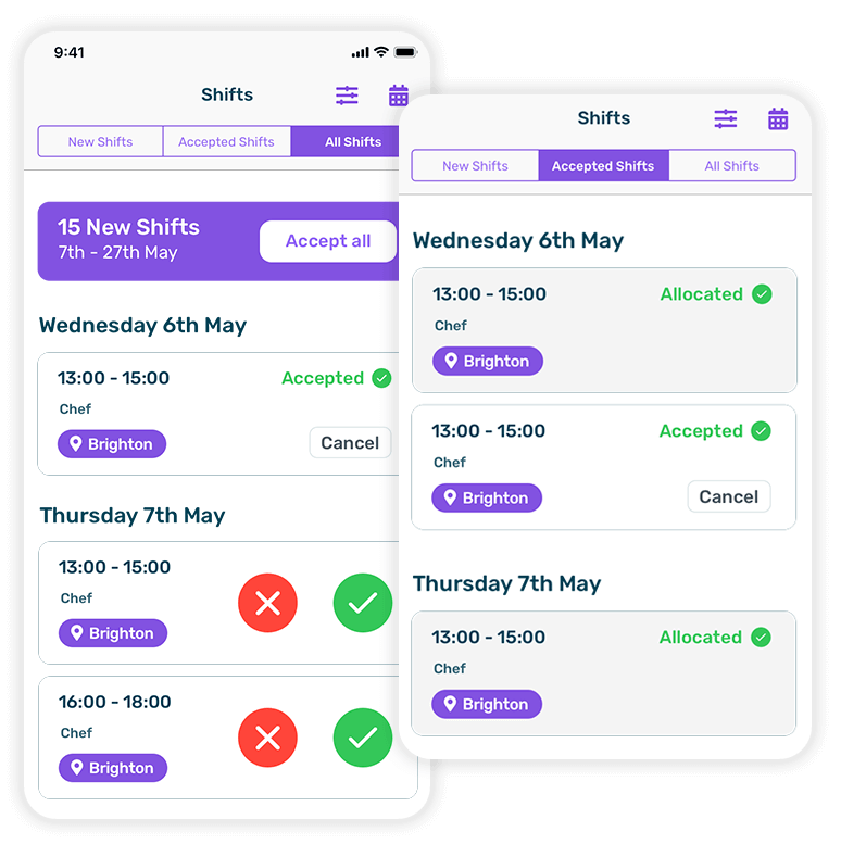 shift scheduling app