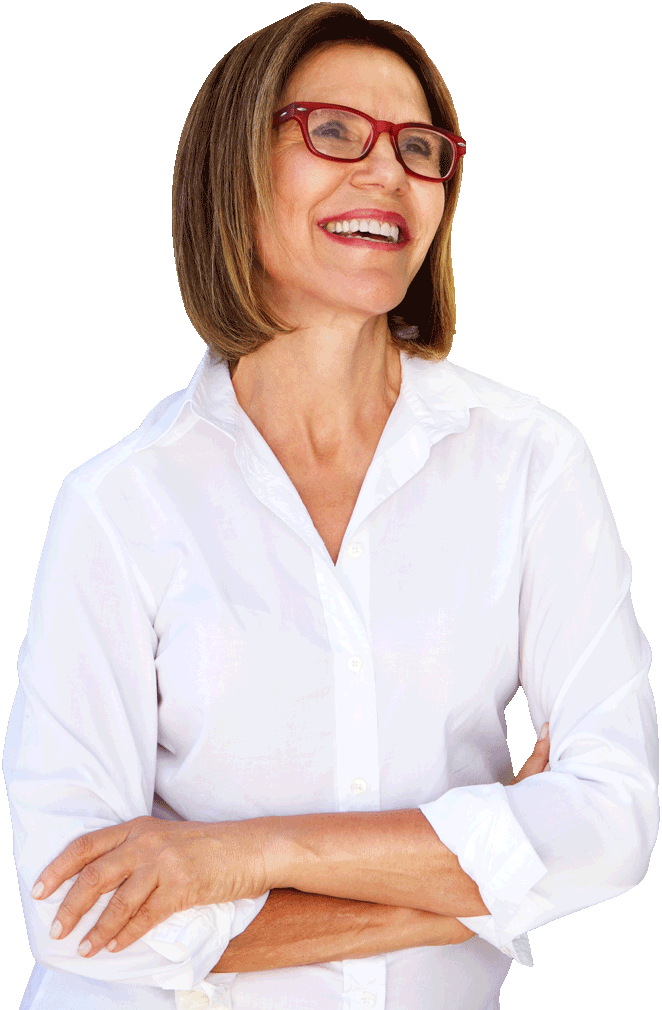 smiley_middle_aged_woman_wearing_a_white_shirt