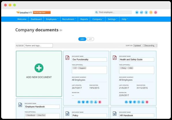 Uploading company documents