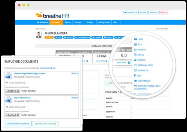 Employee document storage