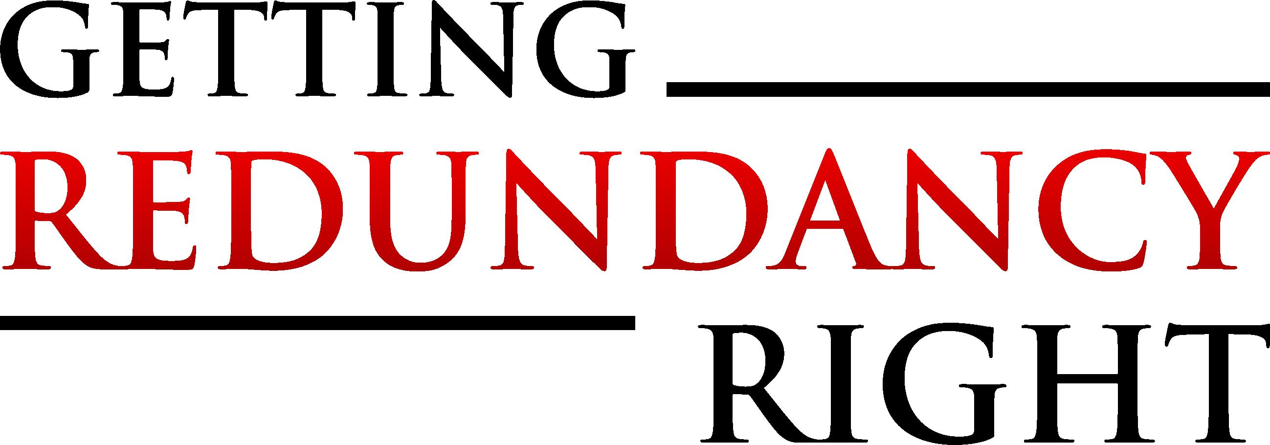 Getting Redundancy Right Logo