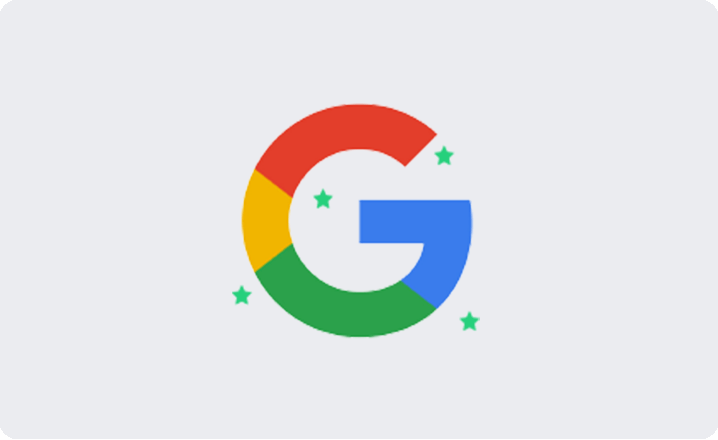 Google reviews card