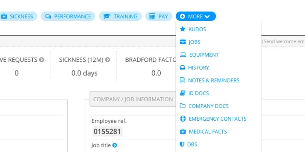 HR task dashboard