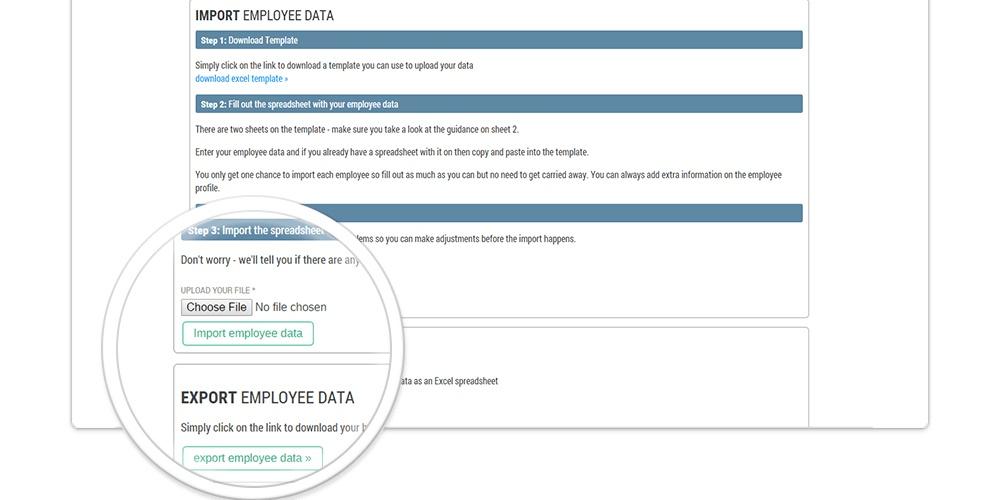 Importing employee data